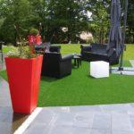 Les jardins urbains optent tous pour le gazon synthétique