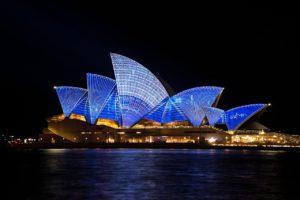Opera de Sydney de nuit