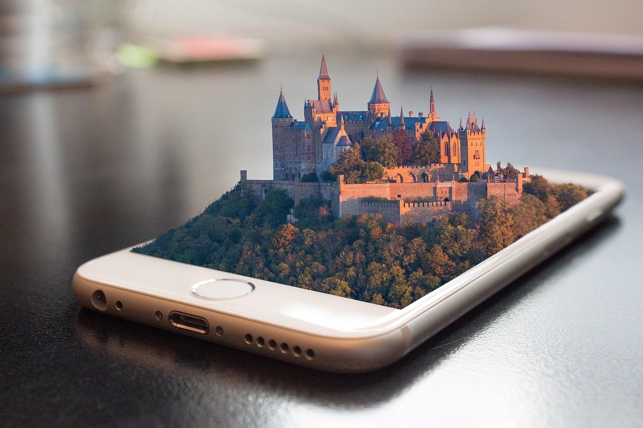 Mobile Phone et paysage