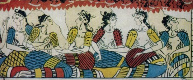 Tradition des femmes de l'ère minoenne