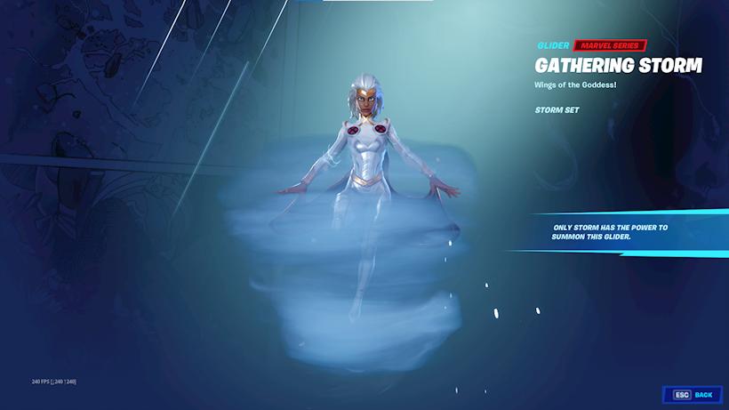 Gathering Storm Glider Fortnite Saison 4