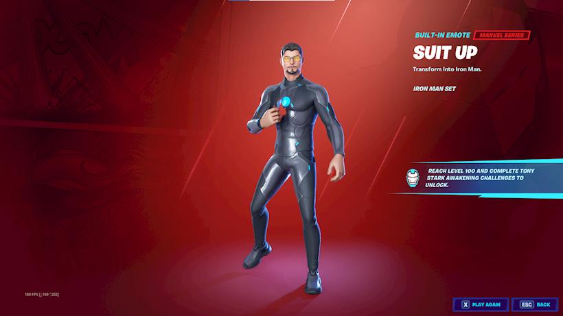 Tony Stark Iron Man Fortnite Saison 4