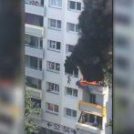 2 garçons sauvés lors d'une chute dans l'incendie d'un appartement français