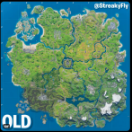 Voici la carte de la saison 4 de Fortnite