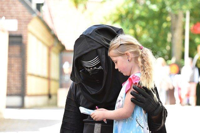 autographe obtenu par une petite fille