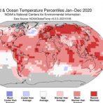 2020 devient la deuxième année la plus chaude jamais enregistrée sur Terre
