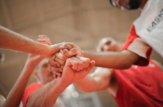Soutient, esprit d'équipe, sportifs