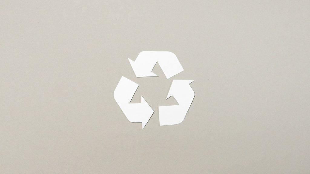 Logo du recyclage, pour la protection de l'environnement