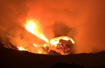 Volcan Kilauea, tremblement de terre de la grande île d'Hawaï